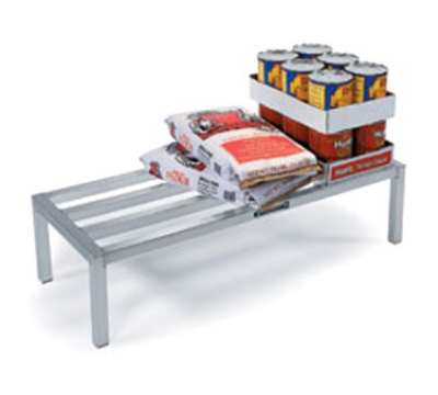 "Lakeside 9172 60"" Dunnage Rack w/ 5-Lateral Bars, 1500-lb Capacity, Aluminum"