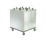 "Lakeside 928 9.75"" Mobile Dish Dispenser Cabinet w/ 4-Self-Leveling Tubes"