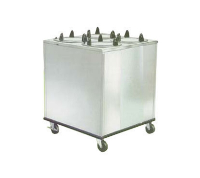 Lakeside 918 Mobile Dish Dispenser Cabinet w/ 4-Self-Leveling Tubes, 7.5""