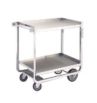 Lakeside 943 2-Level Stainless Utility Cart w/ 1000-lb Capacity, Raised Ledges