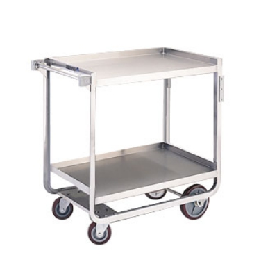 Lakeside 943 Utility Cart w/ (2) 21 x 33-in Shelves & Angle Frame, 1000-lb