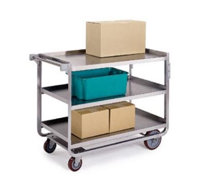 Lakeside 959 3-Level Stainless Utility Cart w/ 1000-lb Capacity, Raised Ledges