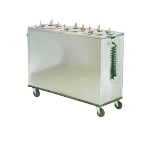 "Lakeside 975 220 Heated Mobile Dish Dispenser Cabinet w/ 3-Tubes, 12"" Dish, 220 V"