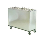 Lakeside 962 Mobile Dish Dispenser Cabinet w/ 3-Self-Leveling Tubes, 9.75""