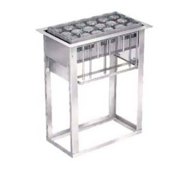 Lakeside 973 Drop-In Cup & Glass Rack Dispenser w/ Self-Leveling, 6-Racks