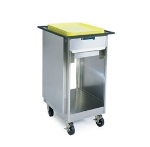 Lakeside 999 Enclosed Mobile Tray Dispenser Cabinet w/ Flatware Rack