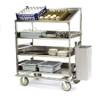 Lakeside B591 Soiled Dish Breakdown Cart w/ 3-Flat & 1-Angle Shelves, 51-7/8-in