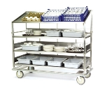 "Lakeside B589 67.75"" Soiled Dish Breakdown Cart w/ 3-Flat & 1-Angle Shelves"
