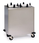 Lakeside S6210 Heated Mobile Dish Dispenser for Square Plate 9.5 to 10.25""