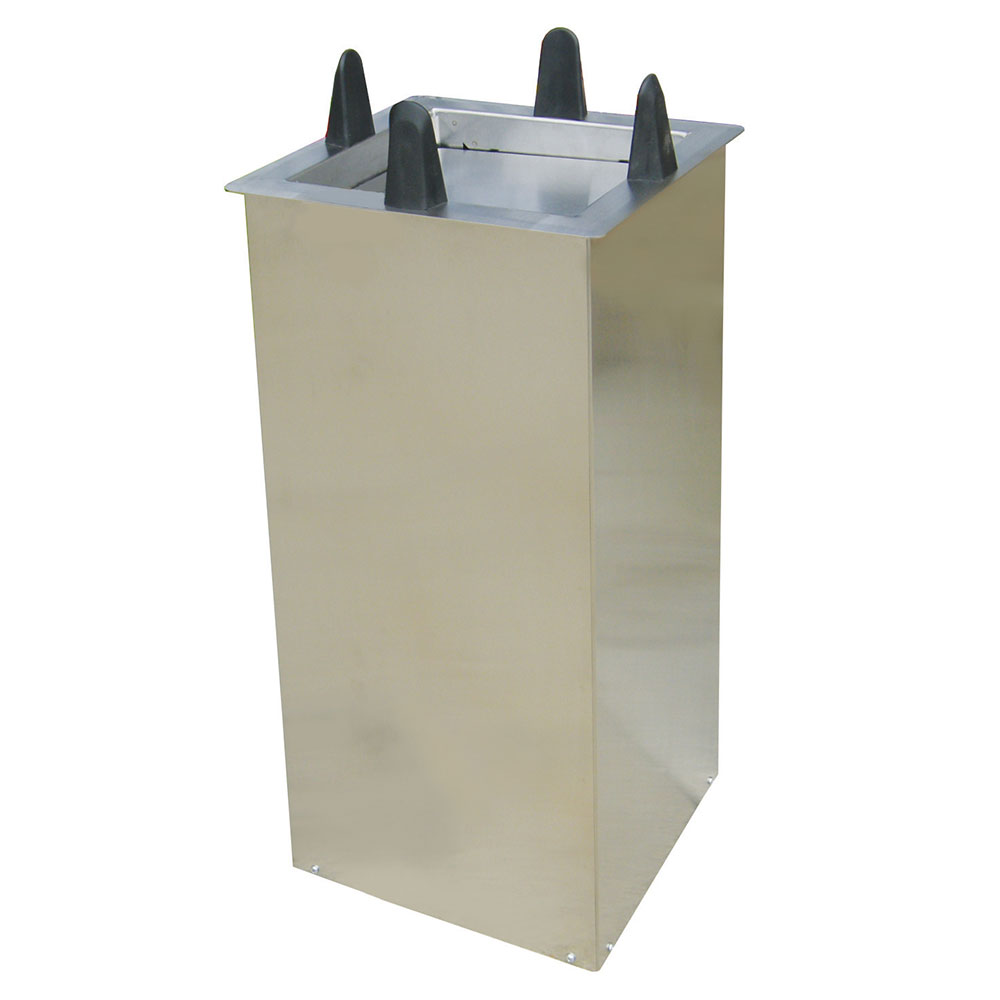 """Lakeside S5010 Shielded Drop-In Dish Dispenser for Square Plate 9.5 to 10.25"""""""
