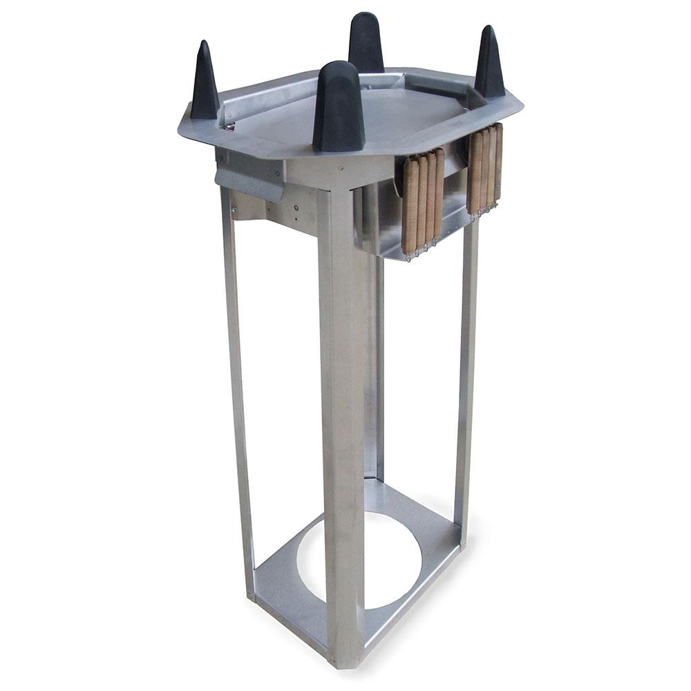 "Lakeside V4010 Open Frame Oval Drop-In Dish Dispenser for Up To 7.75 x 10.5"" Platter"
