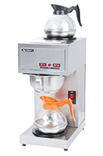 Adcraft CBS-2 Pour-Over Coffee Brewer w/ 2-Warmers, Stainless