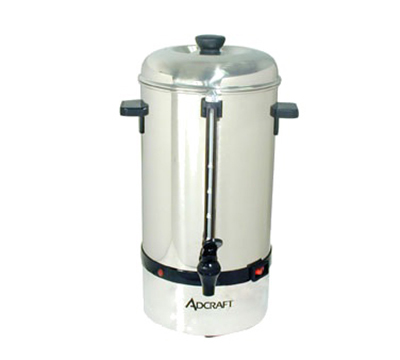 Adcraft CP-100 Coffee Percolator w/ 100-Cup Capacity & Auto Temp Control, Stainless
