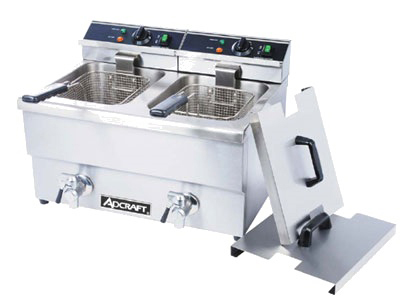 Adcraft DF-12L/2 Countertop Electric Fryer - (2) 25-lb Vat, 208v/1