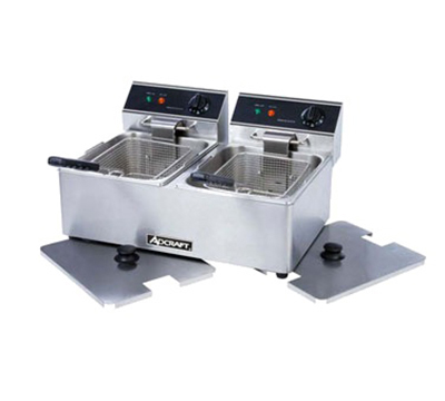 Adcraft DF-6L/2 Countertop Electric Fryer - (2) 15-lb Vat, 120v/1ph