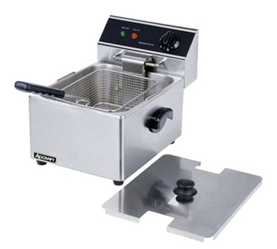 Adcraft DF-6L Countertop Electric Fryer - (1) 15-lb Vat, 120v/1ph