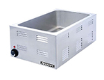 "Adcraft FW-1200W Countertop Food Warmer w/ Base Only & 6.5"" Deep Well, Stainless"