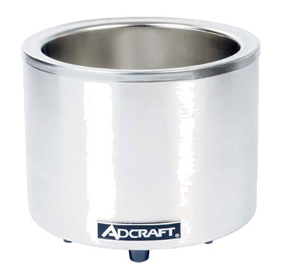 Adcraft FW-1200WR Countertop Food Cooker Warmer w/ Base Only & 11-qt Capacity, Stainless