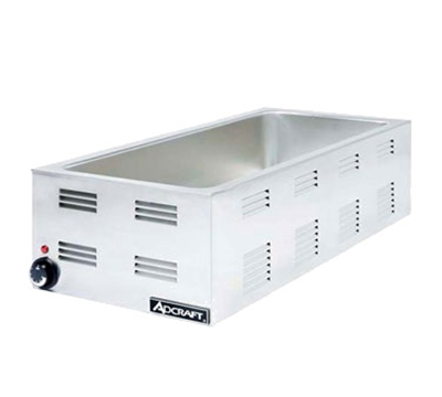 Adcraft FW-1500W Countertop 4/3-Food Warmer w/ Base Only & 6.5-in Deep Well, Stainless