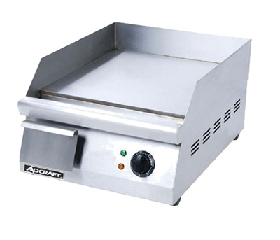 "Adcraft GRID-16 15.5"" Electric Griddle - Thermostatic, 1""  Plate, 120v"