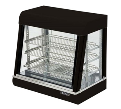 Adcraft HD-26 Countertop Heated Display Case w/ Front & Rear Sliding Doors, 26x18.7x25.25-in