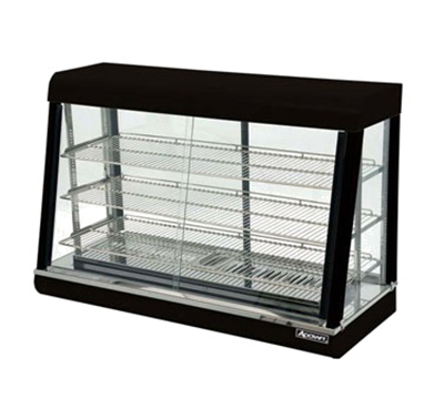 Adcraft HD-48 Countertop Heated Display Case w/ Front & Rear Sliding Doors, 47.25x20.37x31.75-in