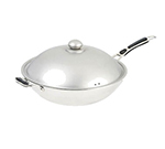 "Adcraft IND-WOK 14.25"" Stainless Stir Fry Pan - Induction Ready"