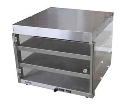 Adcraft PW-20 Countertop Pizza Merchandiser w/ 3-Pizza Capacity, 23x23x20.5-in, Stainless