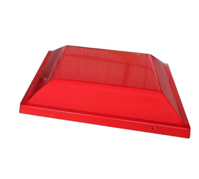 Adcraft PW-20/TOP Plastic Merchandiser Top w/ Graphic Signs, 23x23x20.5-in, Red