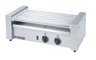 Adcraft RG-07 18 Hot Dog Roller Grill - Flat Top, 120v