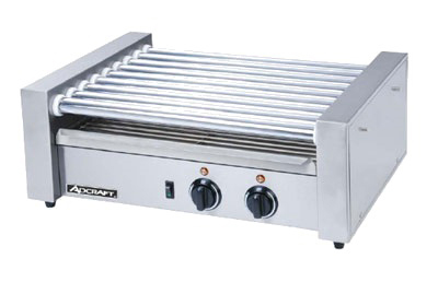 Adcraft RG-09 24 Hot Dog Roller Grill - Flat Top, 120v