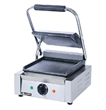 Adcraft SG-811/F Single Sandwich Grill w/ 8.5x9.25-in Flat Surface, Stainless