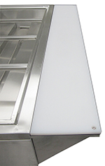 Adcraft EST-240PCB Poly Cutting Board and Stainless Steel Shelf - (EST-240)