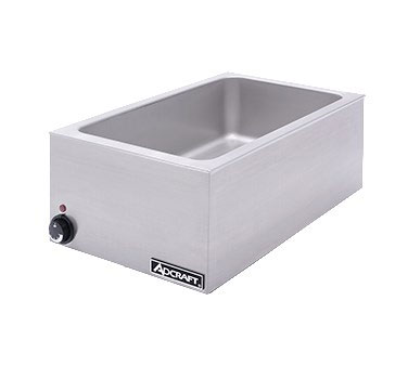 "Adcraft FW-1500W/C Full-Size Food Warmer w/ Base Only, 6.5"" Deep Well, Stainless"