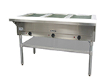 Adcraft ST-120/3 Steam Table - 3-Wells & Cutting Board, Infinite Controls, Stainless
