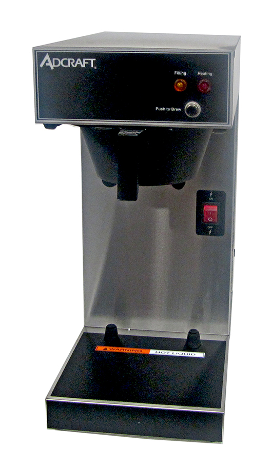 Adcraft UB-286 Thermal Server Coffee Brewer, Single Brewer, Stainless, 120v