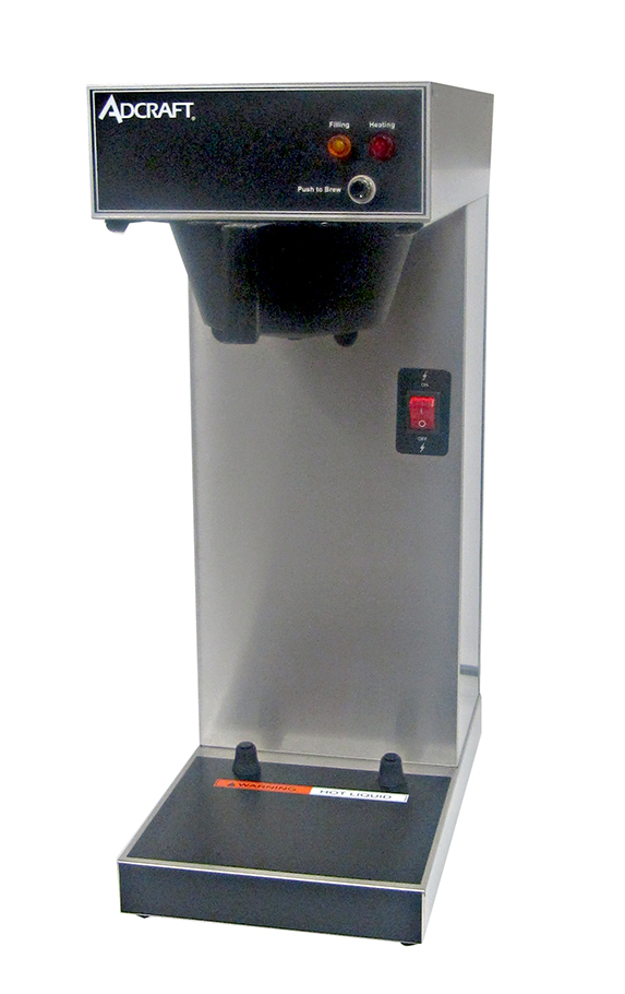 Adcraft UB-289 Airpot Coffee Brewer, Single, Stainless, 120v