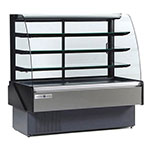"Kool-It KBD-50-S 52"" Full Service Bakery Case w/ Curved Glass - (4) Levels, 115v"