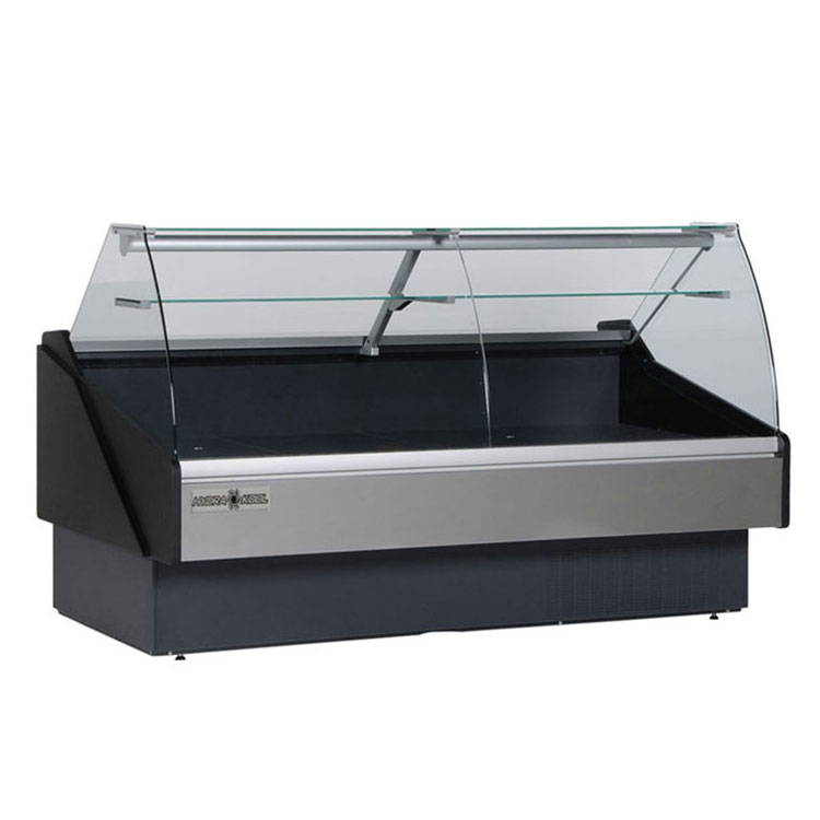 "Kool-It KPM-100R 102"" Full Service Deli Case w/ Curved Glass - (1) Levels, 115v"