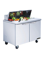 "Kool-it KST-36-2 36"" Sandwich/Salad Prep Table w/ Refrigerated Base, 115v"
