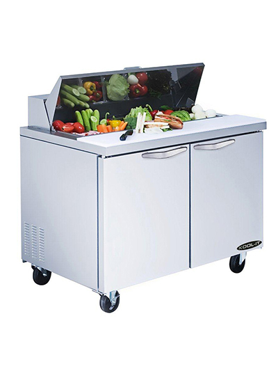 "Kool-It KST-48-2 48"" Sandwich/Salad Prep Table w/ Refrigerated Base, 115v"