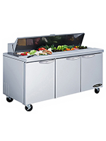 "Kool-It KST-72-3 72"" Sandwich/Salad Prep Table w/ Refrigerated Base, 115v"
