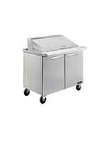 "Kool-It KSTM-48-2 48"" Sandwich/Salad Prep Table w/ Refrigerated Base, 115v"