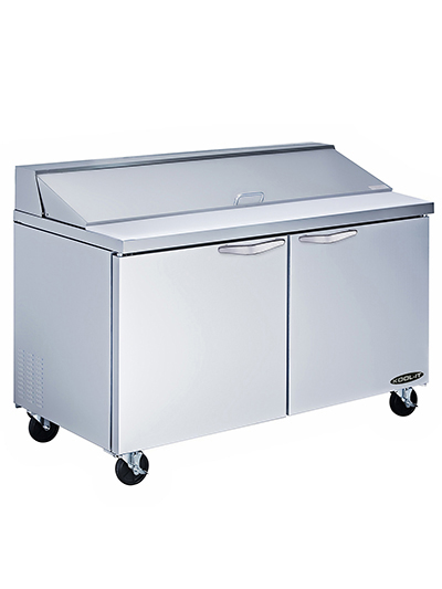 "Kool-It KSTM-60-2 60"" Sandwich/Salad Prep Table w/ Refrigerated Base, 115v"