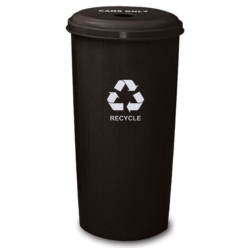 Witt 10/1DTBK 20-gal Cans Recycle Bin - Indoor, Decorative