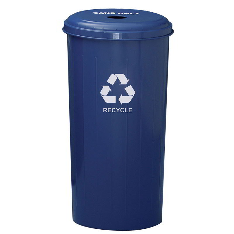 Witt 10/1DTDB 20-Gallon Indoor Recycling Container w/ Circle Hole Top, Blue