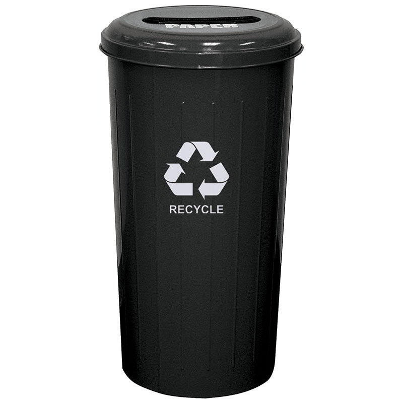 Witt 10/1STBK 20-gal Paper Recycle Bin - Indoor, Decorative