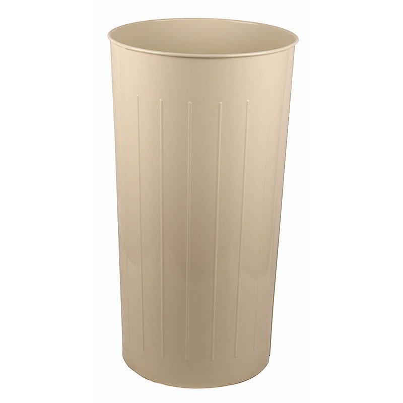 Witt 10AL 20-qt Round Waste Basket - Metal, Almond