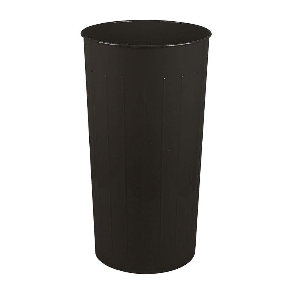 Witt 10BK 20-qt Round Waste Basket - Metal, Black