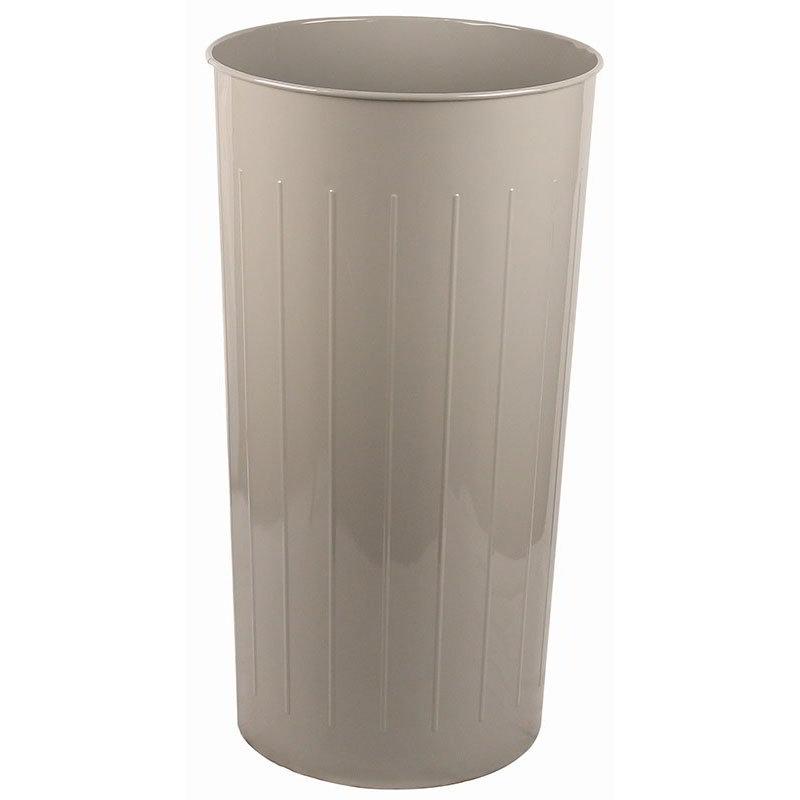Witt 10SL 20-qt Round Waste Basket - Metal, Slate